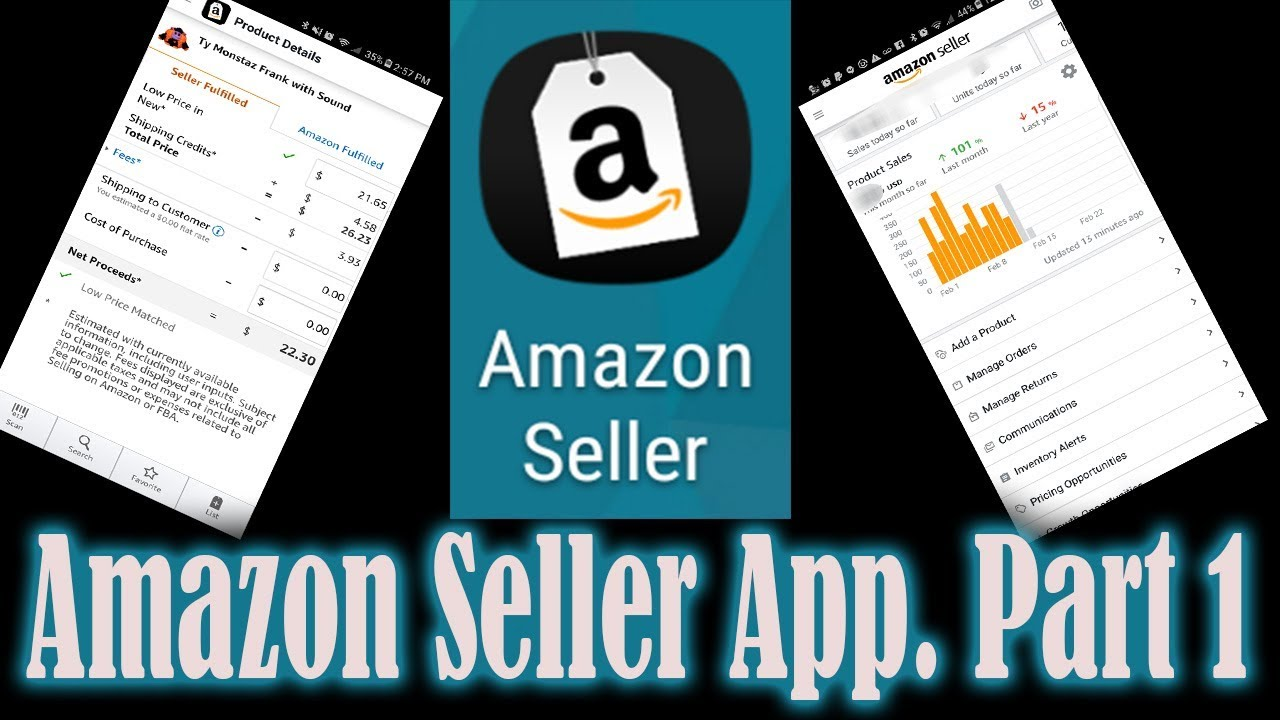 How to Use the Amazon Seller App to list & sell on Amazon FBA / Ebay Part 1 the Basics