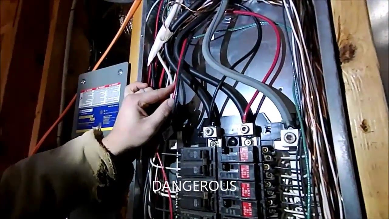 wiring a portable generator into a house how not to do it youtube wire portable generator to house portable generator wiring to house [ 1280 x 720 Pixel ]