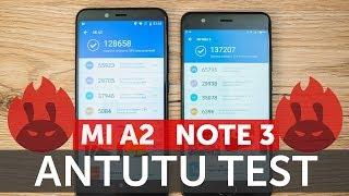 Xiaomi Mi A2 vs Mi Note 3 в AnTuTu сравнение производительности Snapdragon 660