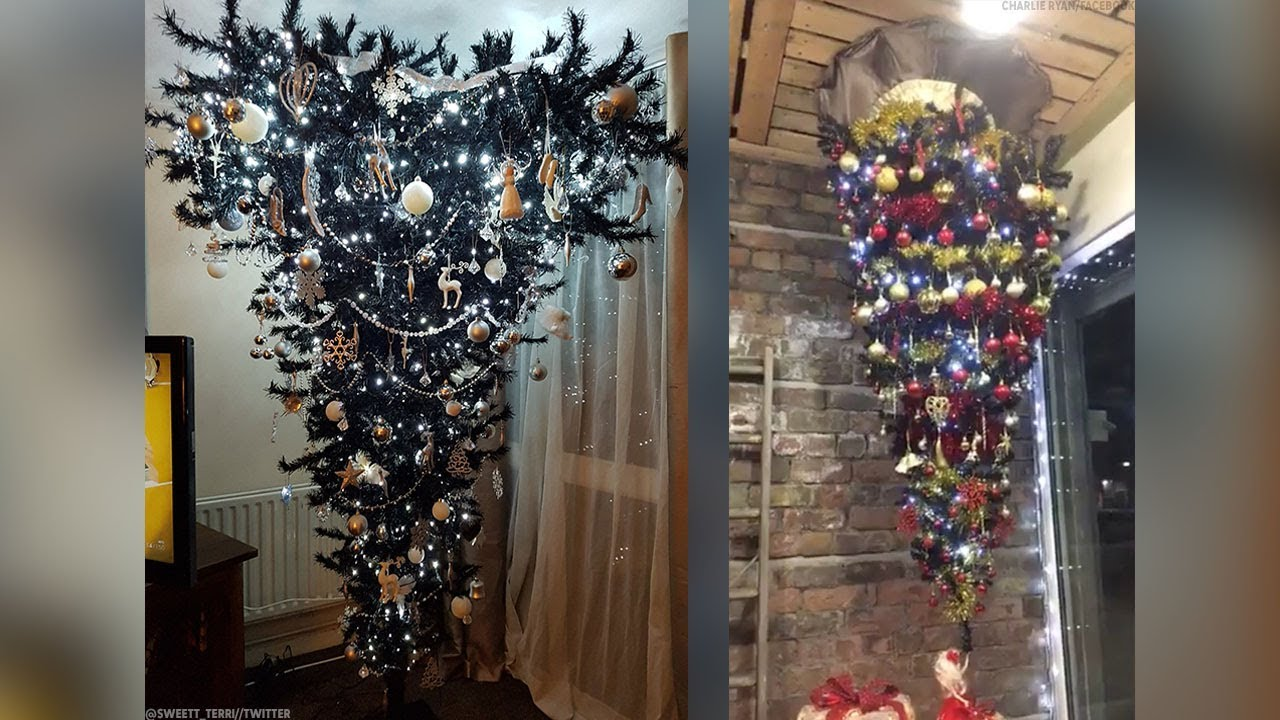 Upside-down Christmas Trees Are All The Rage For 2017