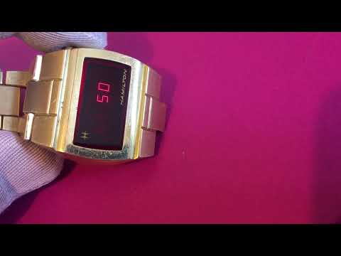 VINTAGE 1970's HAMILTON 10K GOLD FILLED RED LED WATCH