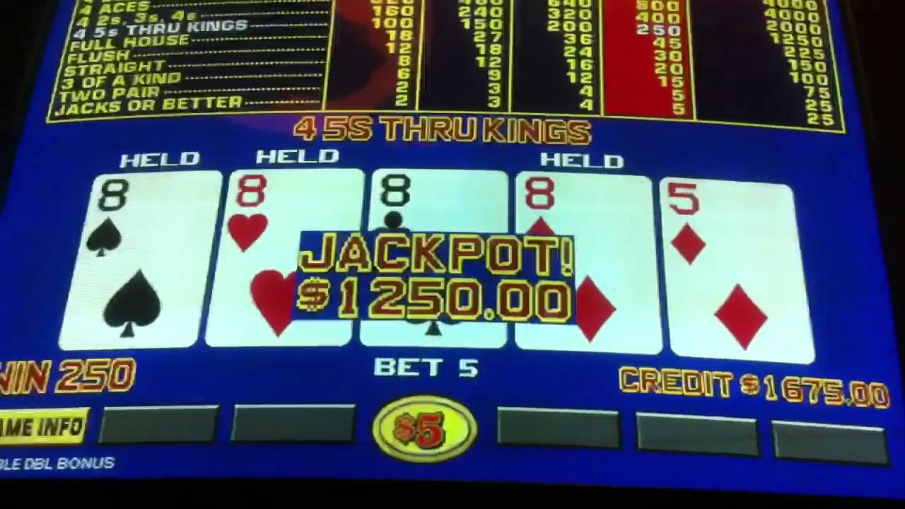 Video poker at mohegan sun
