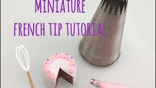 Miniature frosting tip tutorial - Polymer clay