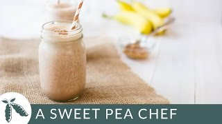 Chocolate, Banana & Peanut Butter Protein Shake | A Sweet Pea Chef