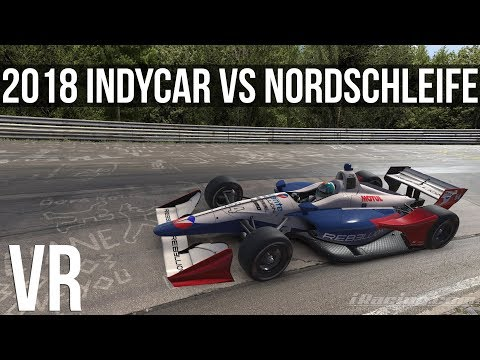 iRacing - How Fast Can A 2018 INDYCAR Lap The Nordschleife?