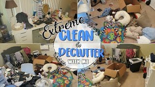 DECLUTTER & CLEAN WITH ME 2017 | Extreme Cleaning Motivation | Baby Boy Nursery