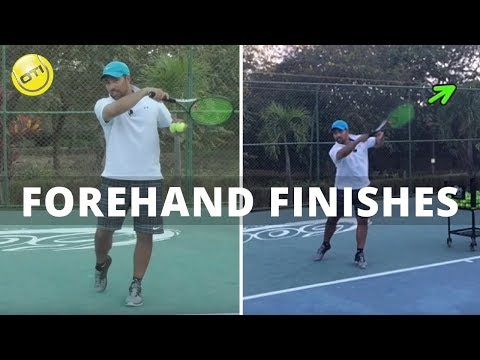 Tennis Tip: Nadim on Forehand Finishes
