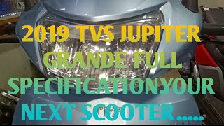 2019 NEW TVS JUPITER GRANDE WITH BLUETOOTH CONNECTIVITY   SMART FEATURE   YOUR NEXT SCOOTER......