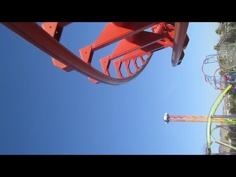 Kong front seat on-ride HD POV Six Flags Discovery Kingdom