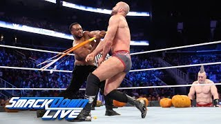Big E vs. Cesaro - Trick or Street Fight: SmackDown LIVE, Oct. 30, 2018