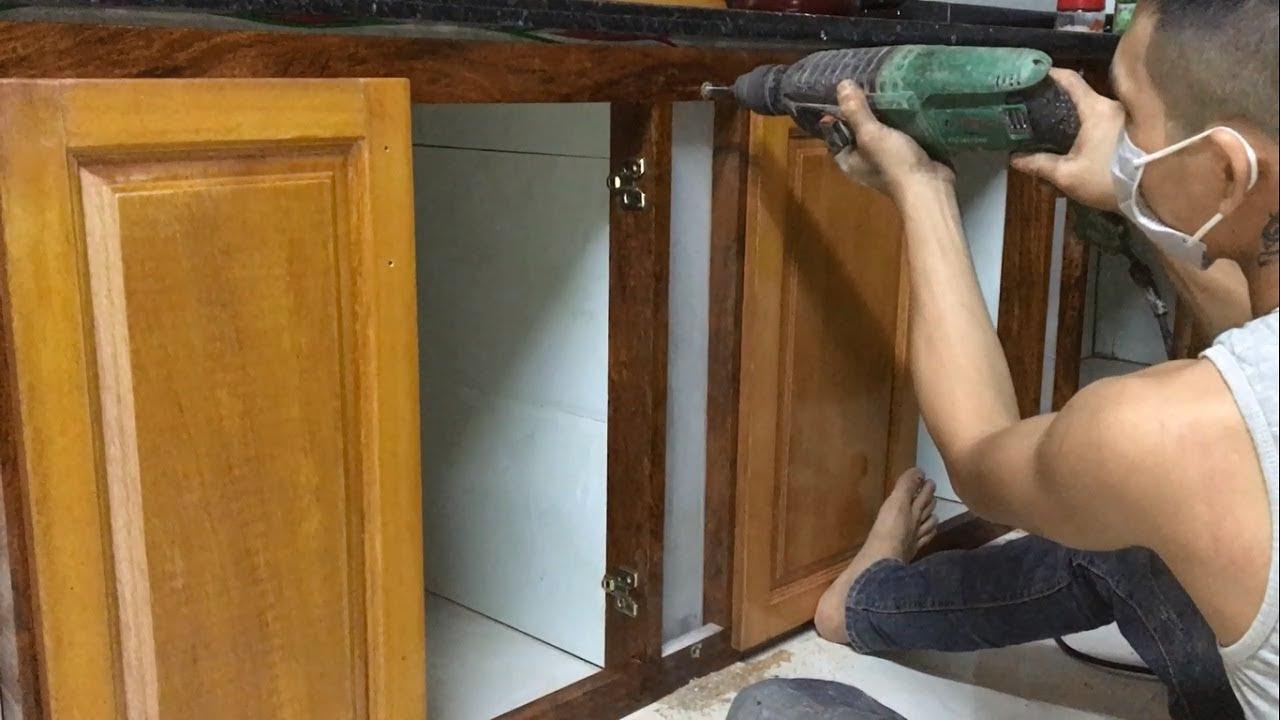 Build & Install Frame Under Kitchen Cabinets - Amazing ...