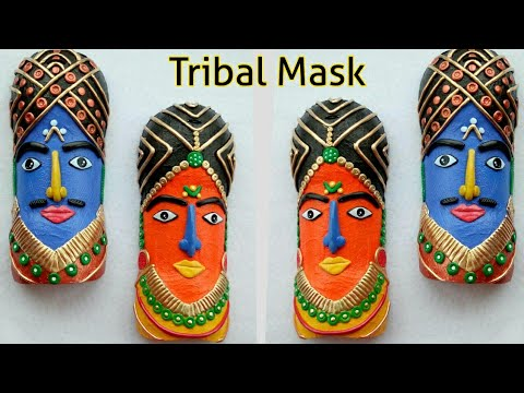 DIY Tribal Mask from Plastic Bottle | Craft from waste
