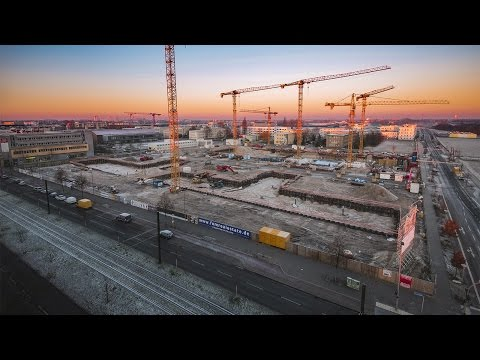 Allianz Campus - Berlin | Construction site progress time lapse