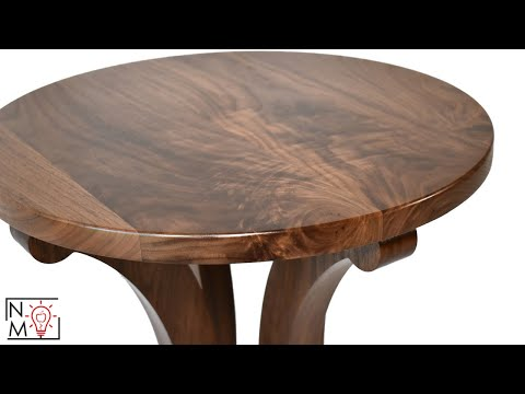How To Build A Walnut Pedestal Table   Living Room Side Tables