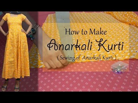 how to make trail cut kurti