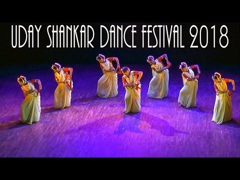 Mamata Shankar perform with her dance group at Uday Shankar Dance Festival 2018
