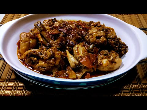 How To Cook Spicy Adobong Manok Sa Kamatis / Chicken Adobo Stewed In Tomatoes