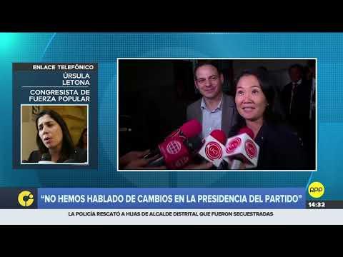 """Úrsula Letona: """"No hemos hablado en ningún momento de cambios en la presidencia del partido"""""""