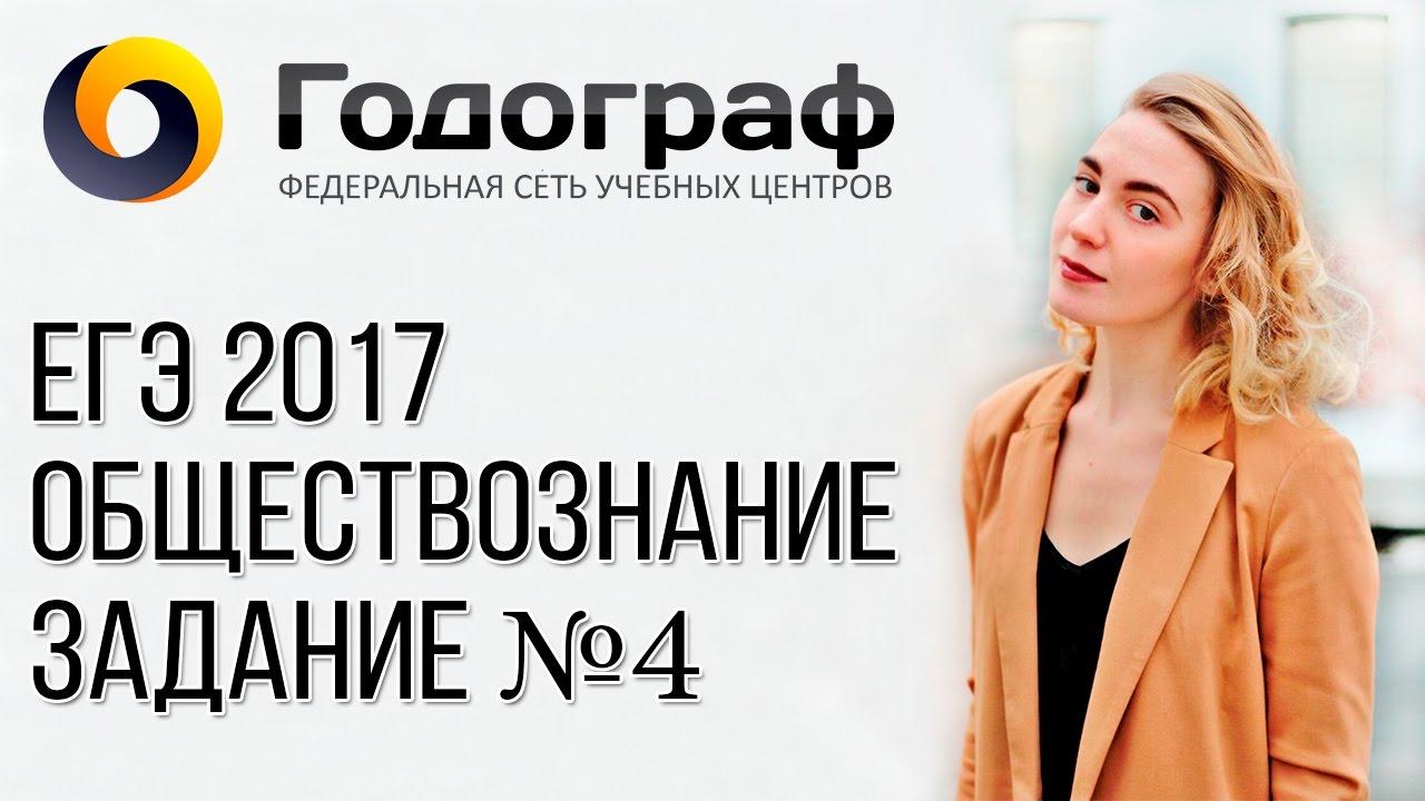 ЕГЭ по обществознанию 2017. Задание №4.