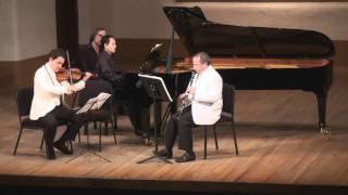 Bartók Contrasts for Clarinet, Violin & Piano - 1st mvt. | T. Levy, G. Schmidt, V. Asuncion