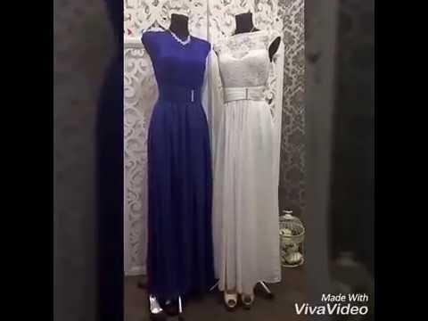 Платья на свадьбу. Купить белое платье для невесты и синее платье для дружки в салоне Пафос