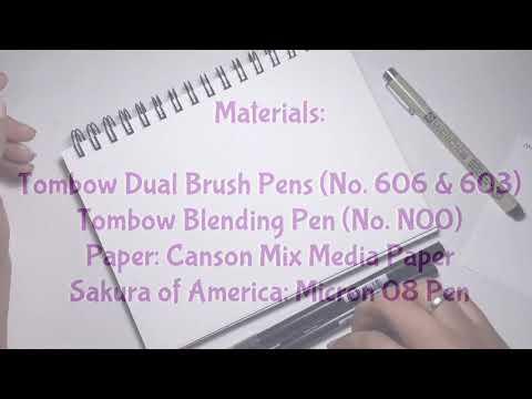Tombow Dual Brush Pens (Blending Technique) @lovetistrue