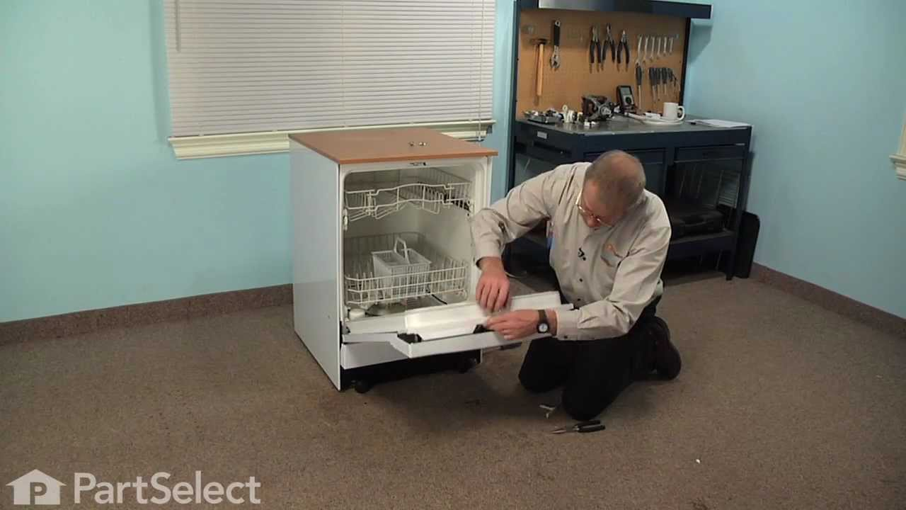Dishwasher Repair Replacing The Detergent Cup Shaft And