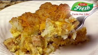 Tater Tot and Chicken Sausage Breakfast Bake