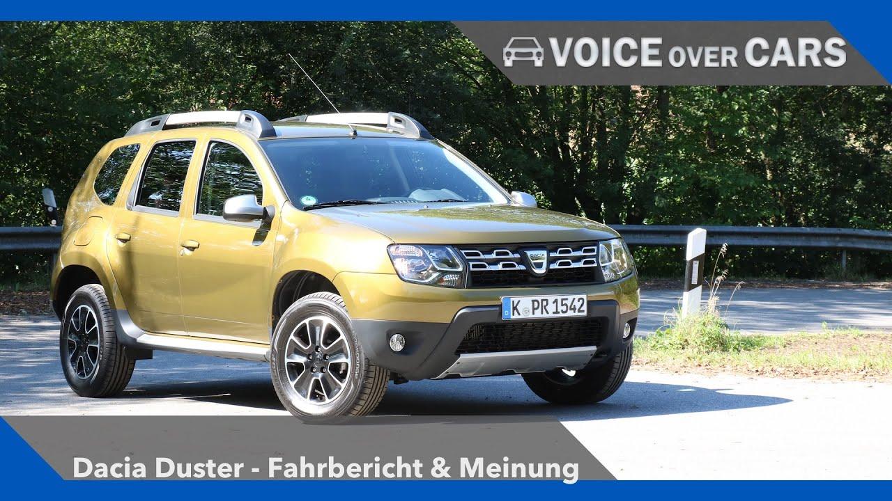 2016 Dacia Duster Review Fahrbericht Test Meinung Kritik