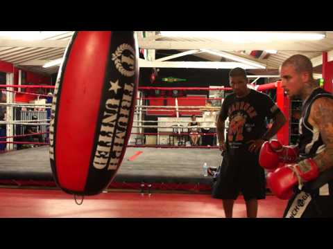 Alan Roach - Hitting the Heavy Bag @ Legacy Training Center 9/20/2012