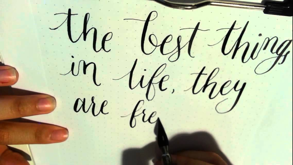 Spring handwritten lettering beautiful modern calligraphy isolated