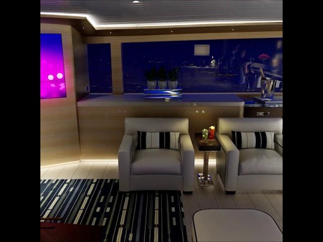 Salon at Night Sneak Peek - III Amigos Sportfishing Yacht