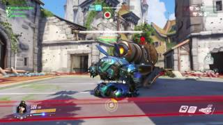Overwatch D.va Solo Capture on Eichenwalde And Girl Hystericaly Laughing About It