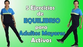5 Ejercicios de EQUILIBRIO (en Silla) para Adultos Mayores (prevención de caídas)