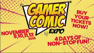 Gamer Comic Expo Miami Promotional Video - November 9-12 Comics Anime Gaming & More