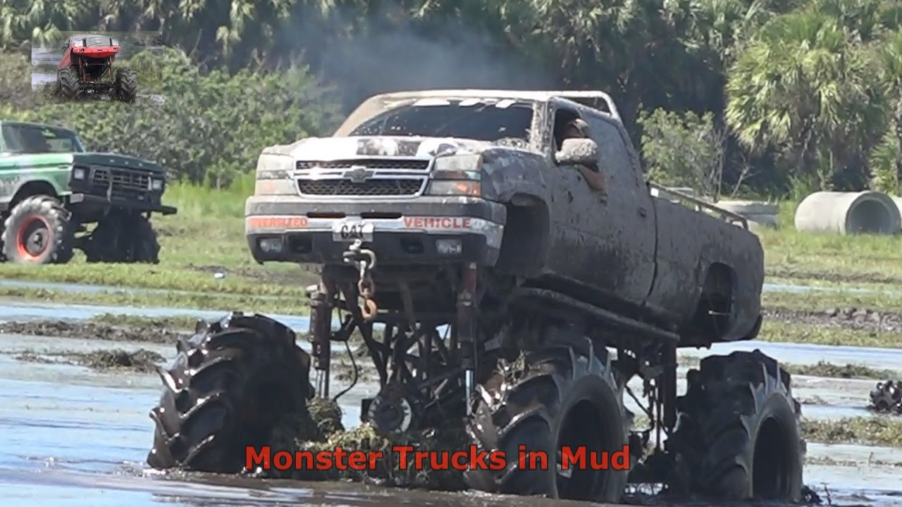 Duramax Diesel Monster Truck Gets Deep In Muddy Water Hole Youtube