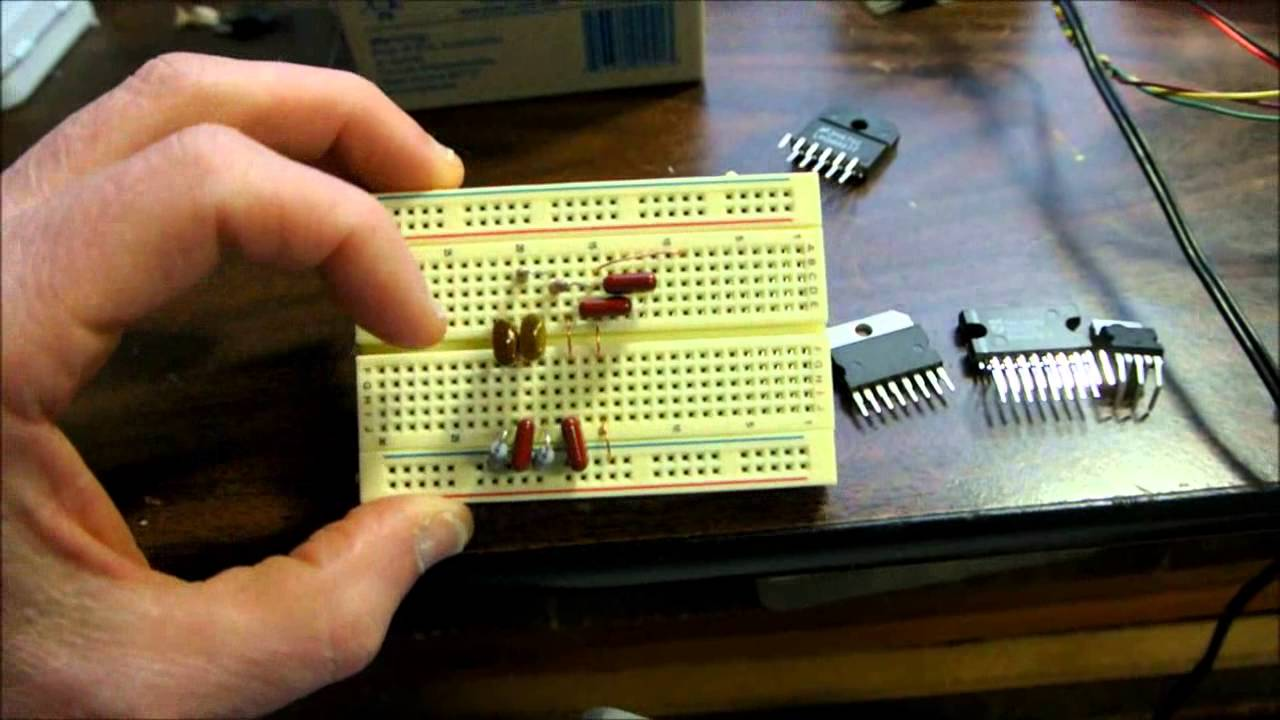 Stereo Amplifier Tda7264 On Breadboard Youtube 20 Watt Audio Using Tda2005 Circuit Diagram