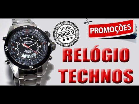 Relógio Technos Skydiver Pilot T20560 1P pulseira de aço inox - YouTube 28f95f7f78
