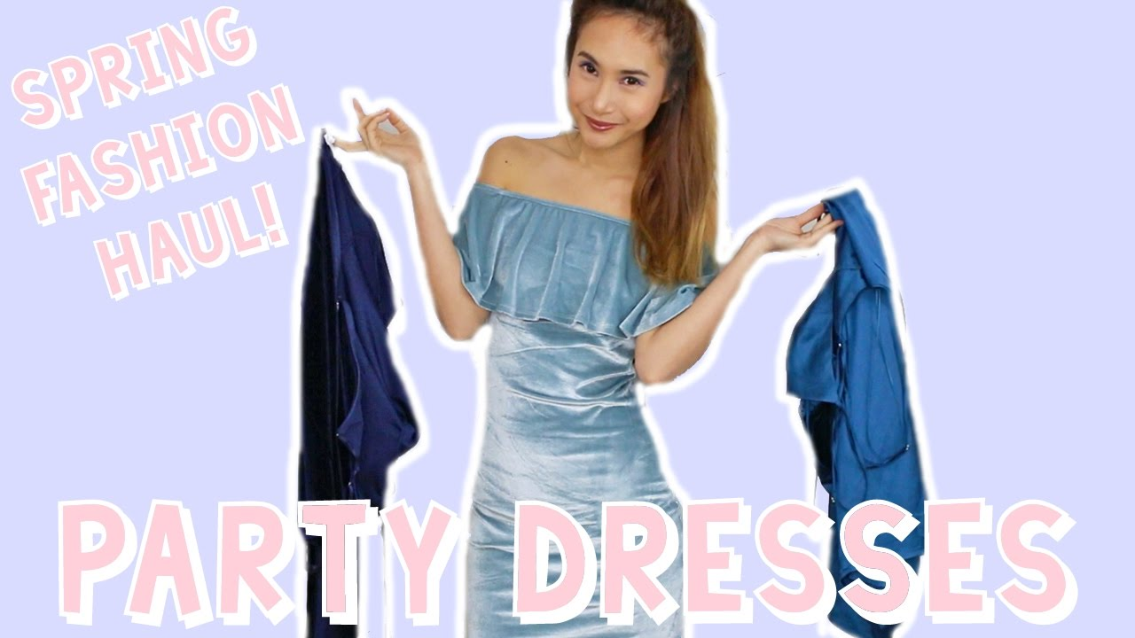 SPRING FASHION HAUL & TRY ON! PARTY DRESSES FOR VEGAS + CLUBBING ...