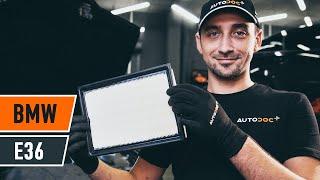 Kā nomainīt Gaisa filtrs BMW 3 (E36) - video ceļvedis