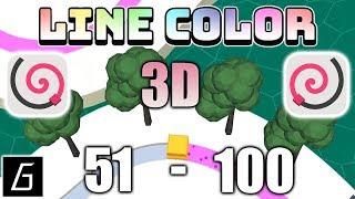 Line Color 3D Gameplay - Levels 51 - 100 (iOS - Android)
