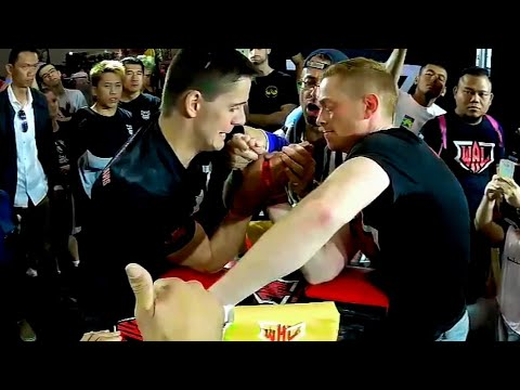 Jordan Davis-Ryan Owen WAL World Arm Wrestling Oceania Regional Final Selection