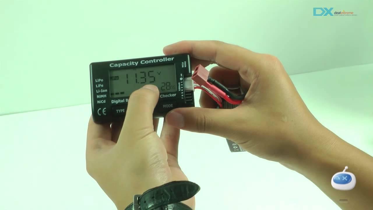 Digital Battery Capacity Checker RC CellMeter V2  LiPo LiFe Li-ion NiMH Nicd DE