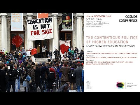 The Contentious Politics of Higher Education - November, 15 - 2017