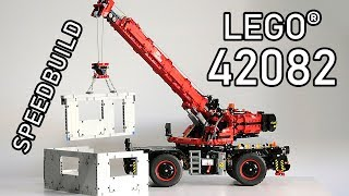 LEGO 42082 Review | Rough Terrain Crane | LEGO Technic 42082 Speedbuild | 42082 LEGO Speed Build