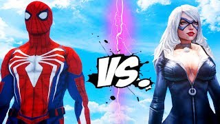 Spider-Man PS4 vs Black Cat - Epic Battle