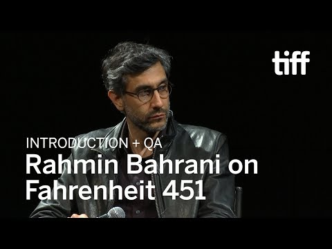 Ramin Bahrani on FAHRENHEIT 451  TIFF 2018