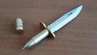 Ручка - нож Крутые канцелярские товары Распаковка и обзор Ручка в форме ножа