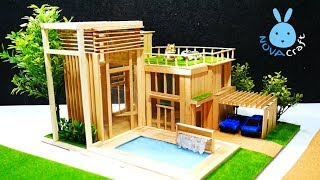 Popsicle stick House building for rat | How to make Popsicle Sticks House Dreamhouse Architecture