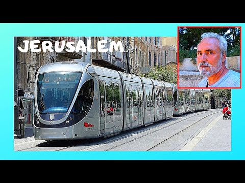 JERUSALEM: Riding The TRAM (LIGHT RAIL) Around The City, Beautiful Views